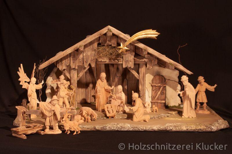 Krippen 16cm Holzschnitzerei Klucker